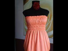 Платье с ниткой резинкой. Как шить шпульной резинкой - YouTube