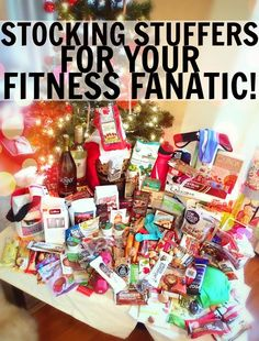 Stocking Stuffers For Your Fitness Fanatic! #stockingstuffers #healthy #fitness #gifts #christmas