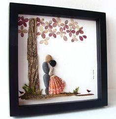 Unique Wedding Gift Personalized Pebble