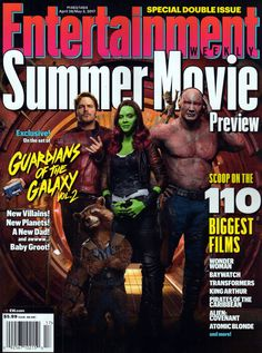 ENTERTAINMENT WEEKLY MAGAZINE APRIL 28 MAY 5 2017 GUARDIANS OF THE GALAXY VOL 2