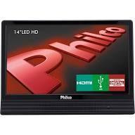 """TV LED 14"""" Philco com Receptor Digital Integrado, Sleep timer, Con..."""