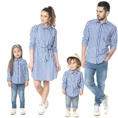Family Matching Outfits T-shirt Daddy Mommy Daughter Son Baby Kid Tops Shirt Set - Family Shirts - Ideas of Family Shirts Mom And Son Outfits, Family Picture Outfits, Couple Outfits, Matching Family Outfits, Matching Shirts, Matching Clothes, Mother Daughter Fashion, Father Daughter, Plaid Outfits