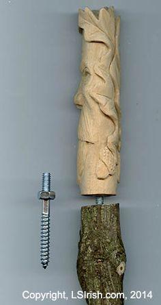 how to glue a cane handle