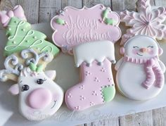 this pink whimsical Christmas set I designed for a Private class! Loving this pink whimsical Christmas set I designed for a Private class! Loving this pink whimsical Christmas set I designed for a Private class! Whimsical Christmas, Noel Christmas, Pink Christmas, Christmas Baking, Christmas Candy, Christmas Treats, Reindeer Christmas, Christmas Biscuits, Christmas Sugar Cookies