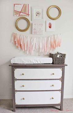 Make over a Hemnes dresser to turn it into a beautiful piece for a nursery.