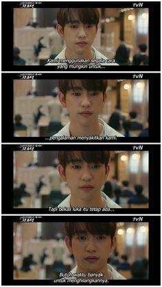 He is physicometri Quotes Drama Korea, Korean Drama Quotes, Crush Quotes, Mood Quotes, Best Quotes, Funny Quotes, Study Motivation Quotes, Korean Words, Quotes Indonesia
