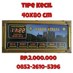 #jamdigitalmasjid tipe kecil 40X80 cm  untuk pemesanan silahkan hubungi kontak kami kak, wa : 0852-2610-5696