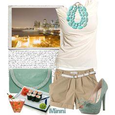 Love khaki and turquoise!