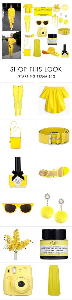 """""""50 Shades of YELLOW!"""" by rosaregaler ❤ liked on Polyvore featuring rag & bone, J.Crew, Tommy Hilfiger, Orciani, Ciaté, Liliana, Moschino and BOSS Orange"""