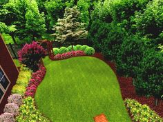 landscaping ideas for long narrow yards - Google Search