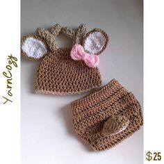 Baby Deer Costume, Check out this item in my Etsy shop https://www.etsy.com/listing/228637173/baby-deer-outfit-crochet-deer-costume Also YarnCozy On Facebook or @yarncozy on instagram
