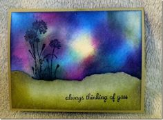Northern Lights Technique, Stampin' Up  Serene Silhouettes