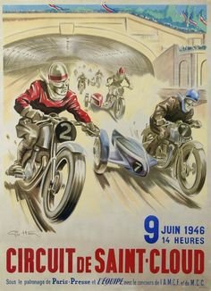 Buy online, view images and see past prices for Géo HAM (Georges Hamel, Circuit de Saint-Cloud 9 juin Invaluable is the world's largest marketplace for art, antiques, and collectibles. Bike Poster, Motorcycle Posters, Car Posters, Poster Ads, Motorcycle Art, Motorcycle Design, Bike Art, Motorcycle Types, Travel Posters