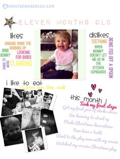 Baby Update: 11 Months By Mum is the word blog