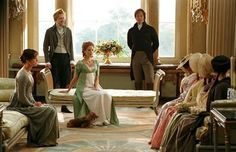 Mrs Bennet and her daughters visit Netherfield Park
