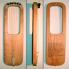 Reconstuctrion of an Anglo Saxon lyre. The wooden parts are almost always nearly completely decomposed.