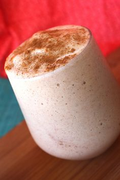 Coconut Vanilla Chai Milkshake: 1/2 C. Coconut Milk 1 frozen Banana 6 Coconut Milk ice cubs 1 tsp. Ginger 1 tsp. Cinnamon 1/2 tsp. Nutmeg 1/2 tsp. Pumpkin Spice (or Allspice) 1 TB Vanilla Directions: Blend all ingredients in a blender until creamy. Reduce milk for a creamier shake, and add milk for a less thick shake.