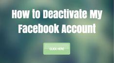 How to Deactivate My Facebook Account | Deactivating FB Profile #DeleteFacebook
