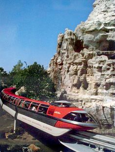Disneyland postcard. Monorail.