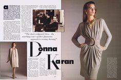 los angeles 4f72e a647c Donna Karan Vogue Patterns SeptOct 1987 Fashion Sewing, 80s Fashion,  Vintage Fashion, Pattern