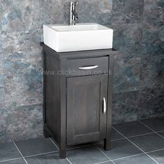 Bathroom Cabinets 50cm Wide rectangular basin with solid oak space saving 50cm wide29cm