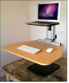 Ergodesktop's Kangeroo, an adjustable stand up desk.