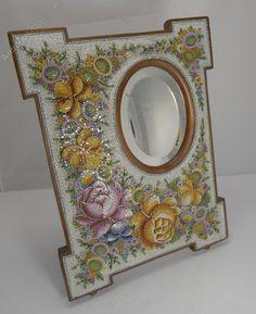 Antiques Atlas - Large Antique Venetian Micro-Mosaic Mirror C.1890