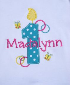 Girls' Birthday Butterfly Accents Frilly Edge Long Sleeve T-Shirt. $19.99, via Etsy.