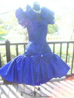 80s prom dress.  Mine was exactly like this but it was red and worn in the early 90s.