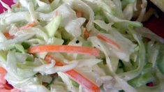 A vintage recipe for coleslaw handed down through the family is similar to the one from that famous chain of chicken restaurants. Mayonnaise and buttermilk make the dressing creamy and tangy. Southern Coleslaw Recipe Vinegar, Mustard Coleslaw Recipe, Coleslaw Sauce, Easy Coleslaw Dressing, Mayonnaise, Coslaw Recipes, Cabbage Salad Recipes, Pulled Pork Recipes, Coleslaw
