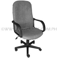 Product Code: HBC-156  Sale Price:P2 999.00 Description:  Ergodynamic™ High Back Office Chair, Fabric Upholstery, 300mm Nylon Base & Nylon Casters, Tilt Lock Mechanism, Swivel Function, Pneumatic Height Adjustment  Chair Capacity: 70kgs.  Classification: LIGHT DUTY  Usage: HOME OFFICE USE