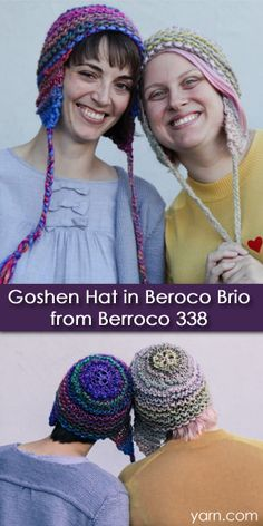 Knit this Goshen hat with just one ball of Berroco Brio yarn in only 4 hours. Make one for you and one for your best friend.