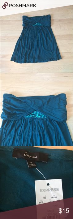 Express Sequin Tube Top Size Small Brand new with tags!  Super cute real tube top from Express, size small.  The top has a fold over at the top, which frames the sequins in a cool peekaboo effect.  Super soft real material.  Machine washable. Express Tops Tank Tops