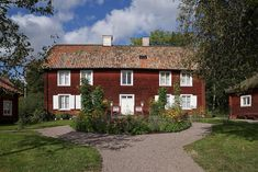 Carl von Linné's home Hammarby, outside of Uppsala, in the Uppsala, Stockholm, Sweden, Harry Potter, Wanderlust, Cabin, Spaces, House Styles, Life