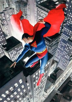 Superman by Alex Ross. I own this limited edition artwork on canvas.