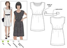 A pattern for a fabulous dress for women in sizes 6, 8 and 10. PDF pattern for instant download. See size chart in the Gallery to choose your correct