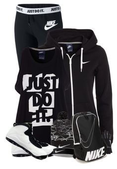 """""""Urban Nike"""" by majezy ❤ liked on Polyvore featuring NIKE, women's clothing, women, female, woman, misses and juniors"""