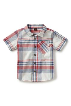 Madras Plaid Sport Shirt (Little Boys & Big Boys)