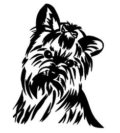Yorkie Terrier Permanent Vinyl Decal Sticker + HIGH QUALITY + FAST FREE SHIPPING #OracalPermanent651Vinyl