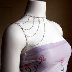 Silver Shoulder Harness Necklace - No. 3. $40.00, via Etsy.