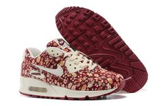 Nike Air Max 90 Floral Print Womens Peony Training Shoes