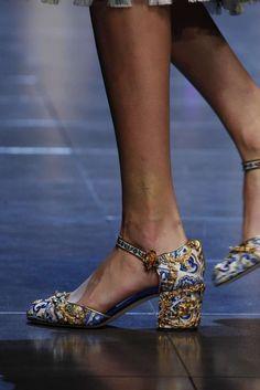 Collezione scarpe Dolce e Gabbana Primavera-Estate 2016 - Scarpe a fantasia Primavera  Estate 279a17cff82