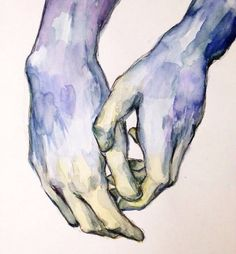 Руки/акварель