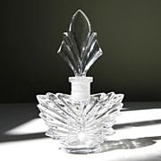 GORHAM Perfume Bottle-Butterfly Motif-Crystal Clear Brilliance