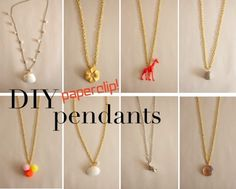 Make Paperclip Jewelry Bails - Saw someone with an elephant necklace and liked it, can try taking a toy and using faux-patina look like on the pumpkins, and create a necklace out of it!