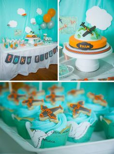 Airplane Party with Lots of Cute Ideas via Kara's Party Ideas