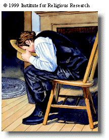 #DiscoverTheBook like Joseph Smith did, with his face buried in a hat looking through a seer stone.