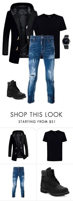 """""""hades"""" by i-am-damaged ❤ liked on Polyvore featuring Kloters Milano, Dsquared2, Timberland, Frédérique Constant, men's fashion and menswear"""
