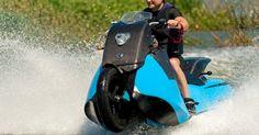 Moto anfíbia Biski é revelada nos Estados Unidos e faz passeio por lago