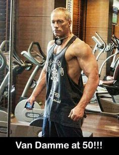 Van Danne looks amazing at 50 years old! What a badass #vandamme